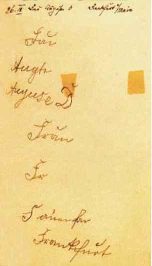 Texto autográfico de Auguste D